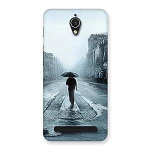 Impressive Beautiful Walking Rain Multicolor Back Case Cover for Zenfone Go