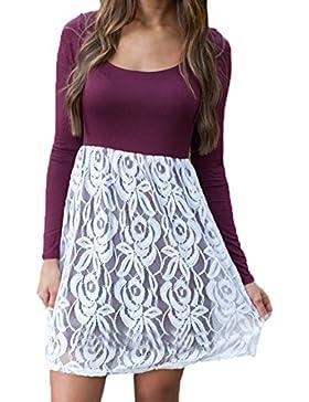 Scothen mini vestido de cuello redondo estiramiento básico mini vestidos mujeres vestido cordón verano fiesta...