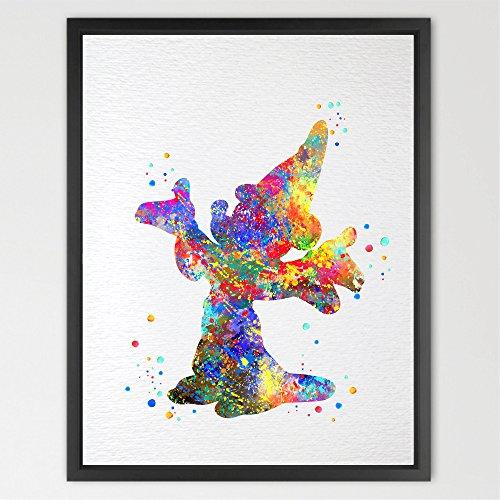 Preisvergleich Produktbild dignovel Studios Magic Mickey Mouse Aquarell Illustration Art Print Kinderzimmer Decor Kids Art Print Hochzeit Geschenk Geburtstag Geschenk Kinder Raum Aquarell Drucken n337-unframed