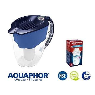 Wasserfilter Prestige Aquaphor,  blau, 2,8 L gesamte Volumen, kompatibel mit Filterkartuschen B100-5, B100-6, B100-7, A5 Magnesium von Aquaphor.