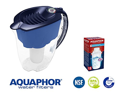 Wasserfilter Prestige Aquaphor,  blau, 2,8 L gesamte Volumen, kompatibel mit Filterkartuschen B100-5, B100-6, B100-7, A5 Magnesium von Aquaphor. -