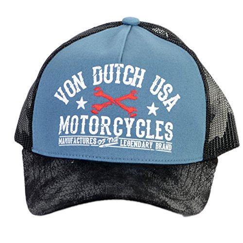 VON DUTCH - Casquette Trucker Von Dutch Garage Bleu - Bleu Taille unique Homme / Femme