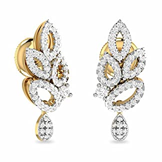 PC Jeweller The Lochlain 18KT Yellow Gold and Diamond Stud Earrings for Women