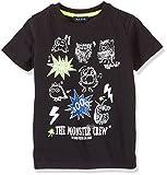 Blue Seven Jungen T-Shirt Monster 802091, Schwarz (Schwarz 999), 110