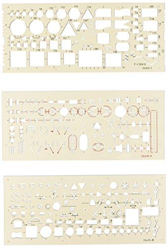 KOH-I-NOOR 703071 Schablone Elektro - 3er Set