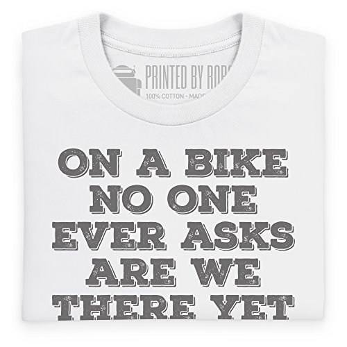 Never Ask Are We There Yet T-Shirt, Herren Wei