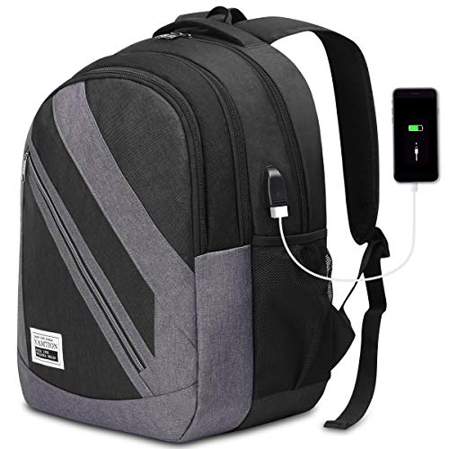 YAMTION Zaino Porta PC Portatile da 15.6 Pollici, Multifunzione Zaino Laptop con porta USB per Uomo Donna Zaino Scuola,40L Zaino per PC