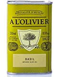 Olivenöl mit natürlichem Basilikumgeschmack, a l'Olivier