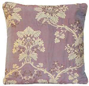 Lilas et motif floral beige Housse de coussin oreiller décoratif Couvre-lit Motif pierre Frey Télécommande portail FADINI Borghi Tissu tissé jacquard