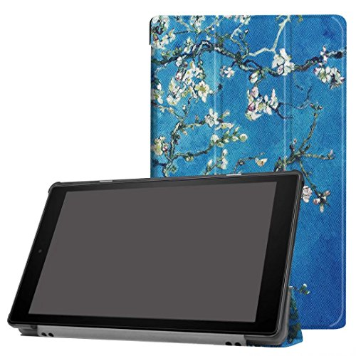 Kindle Fall, happytop 3-fach für neue Fire HD10, TPU 25,4cm bemalt Displayschutzfolie Tischdecken S pflaume