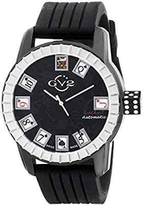 GV2 by Gevril Men's Analog Automatic-self-Wind Watch with Rubber Strap 9301