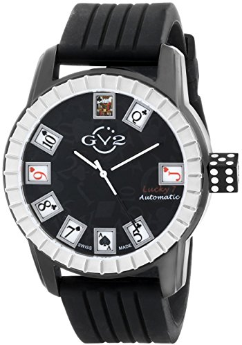 GV2 by Gevril 9301 - Reloj analógico con Correa de Goma para Hombre