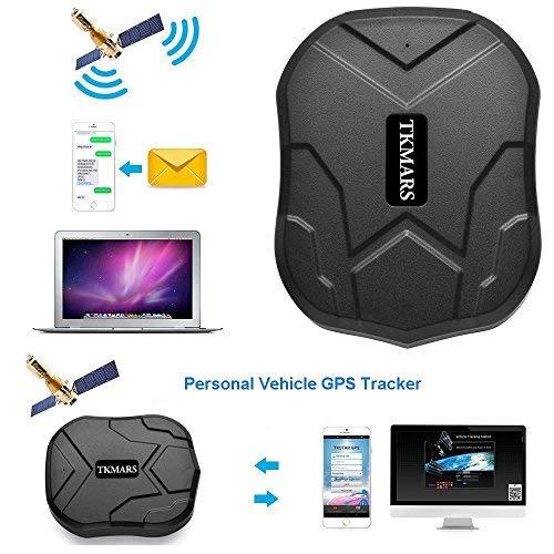 TKMARS GPS Tracker, Echtzeit-Positionierung GPS mit Starken Magneten 90 Tage Lang Standby GPS Tracker Auto LKW Fahrrad GPS Ortung Senioren für Kostenlose APP