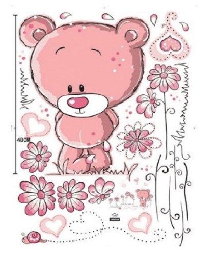 Walplus – Adesivi da parete con orsacchiotto per decorare la cameretta dei bimbi, 50 x 70 cm - 5
