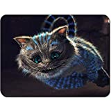 Mouse Pad Alicia En El País De Las Maravillas Cat Jump - Rectángulo Personalizado Alfombrilla De Goma Antideslizante Alfombrilla De Ratón para Juegos 25X30Cm