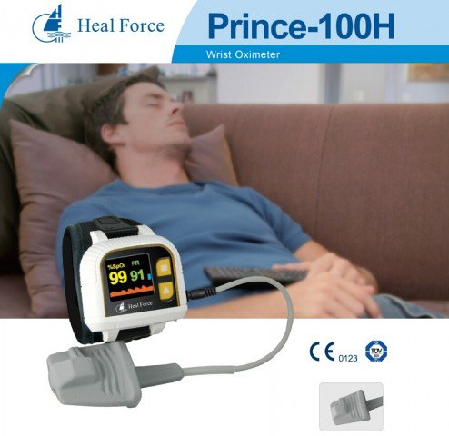 Heal Force Prince 100H Armbanduhr Pulsoximeter + Data Storage + Software