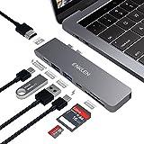 Hub USB C Pour MacBook Pro 2017/2016/2018, adaptateur ENKLEN de type C avec Thunderbolt 3, HDMI 4K, 2 USB 3.1, lecteur de carte SD / Micro SD, port de chargement de type C, gris