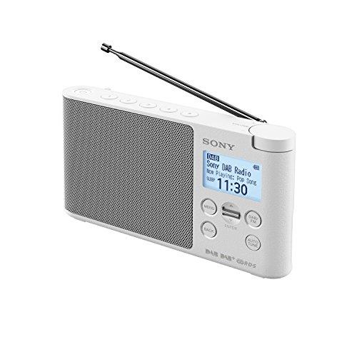 Sony XDRS41D tragbares Digitalradio (LCD-Display, Wecker, DAB, DAB+, FM (RDS), Timer-Weckfunktion) Weiß
