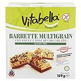 Vitabella Barrette Multigrain con Gocce e Base di Cioccolato Gluten Free - 7 Confezioni