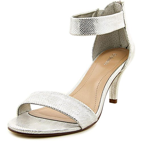 Style & Co Paycee Synthetik Sandale Silver
