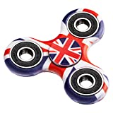 Enlarge toy image: EDC Fidget Spinner Stainless Steel Bearing,2 To 4 Min Spin Times,Ultra Durable Toy Gifts for Kids&adults (UK Flag)