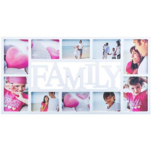 fotorahmen family Goods & Gadgets Bilderrahmen Family XXL - Fotorahmen Familie Bildergalerie Foto-Collage Galerierahmen Wechselrahmen