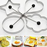 1 Pcs Creative Stainless Steel Pancake Mold Mold Ring Cooking Fried Egg Shaper Kitchen Tools