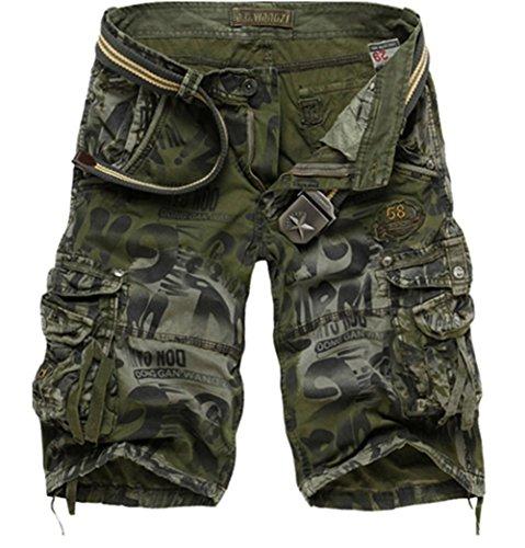 Pantalones Cortos Algodón Leisure Casual Militar