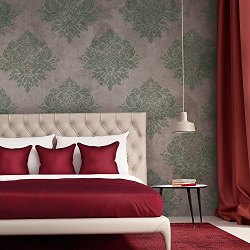 J BOUTIQUE STENCILS Wall Stencil Large Damask Template Rachelle For Elegant  Wallpaper Look Part 75