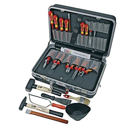"""NWS 321K-23 Werkzeugkoffer Werkzeug 23-teilig Werkzeugset Ausführung\""""Installation für 1000 Volt\"""" VDE SoftGripp Sicherheitsgriffe Spezialwerkzeugstahl Gesenkgeschmiedet Ölgehärtet"""