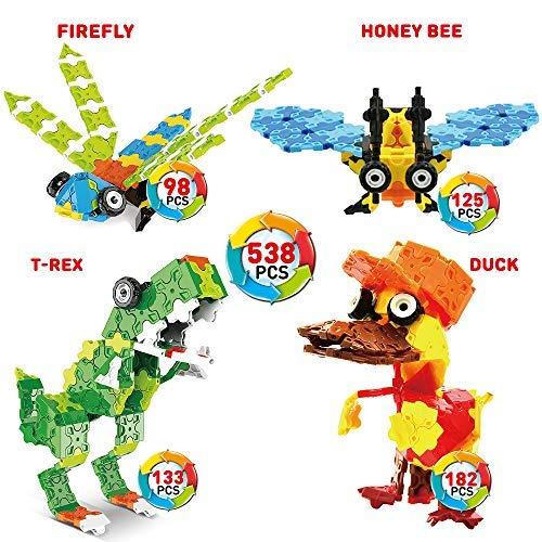 WEofferwhatYOUwant Juego Infantil Bloques Construcción con Insectos De Juguete Piezas Rompecabezas 3D Flatblocks . Niños 5 Años Y Mas para Crear Animales Armables Unisex