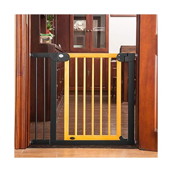 Trip Beechwood Safety Gate Baby child safety gate bar baby stairway fence pet fence dog fence isolation punch-free AA-SS-Safety Door ✿Adaptable :Convenient walk through design with safety locking feature. ✿Easy one-hand open handle:The gates convenient design allows adults to walk through by simply sliding the safety lock back and lifting. ✿Easy to use: Pressure mount design that is quick to set up. No tools required and is gentle on walls. 1