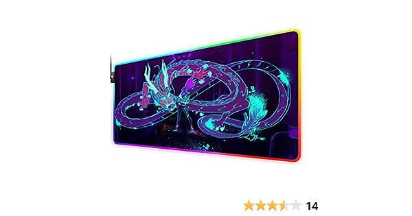 Rgb Gaming Mauspad Für Kda Akali Dragon Neon Led Elektronik