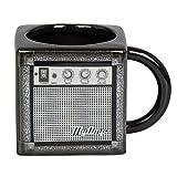 """Kaffeebecher """"Guitar Amp"""" Design - Schwarz ca. 0,35l - Gitarrenverstärker Gadget Kaffeetasse als Geschenk - Grinscard"""