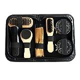 Mlec Tech Kit de Cirage Chaussure Kit de Nettoyage de Chaussures Petit Léger Durable Outil de Chaussure Idéal pour Vos Chaussures
