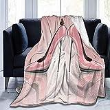 Manta Rosa de tacón Alto con diseño de Mariposas, Manta de Forro Polar Suave, Manta de Forro Polar, Manta de sofá Duradera y cálida, Manta de Felpa Ligera para la Oficina o el hogar, 102 x 127 cm