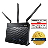 Asus RT-AC68U AC1900 Black Diamond Dual-Band Power WLAN Router (802.11 a/b/g/n/ac, Gigabit LAN/WAN, USB 3.0, Print FTP UPnP VPN Server, IPv6, SSID, AiRadar)