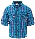 Fs Mini Klub Boys' Regular Fit Cotton Shirt (88Tbtsh0381 Blue Plaid_8-2 - 3 Years, Blue, 2 - 3 Years)