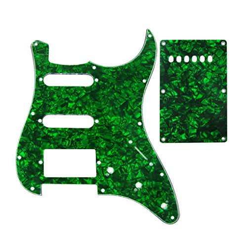 iknr-3-ply-ssh-pickguard-und-tremolo-abdeckung-fur-fd-fender-squier-e-gitarre-grune-perle-11-locher