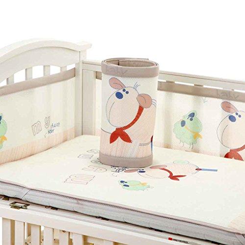 Republe 2 stücke Atmungs Baby Bettwäsche Stoßstange Infant Antikollision Half Around Mesh Net Krippe Liner Neugeborenen Craddle - Bettwäsche-sets Baby-krippe