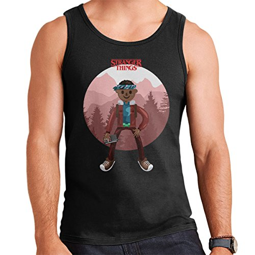 Stranger Things Lucas Big Men's Vest Black