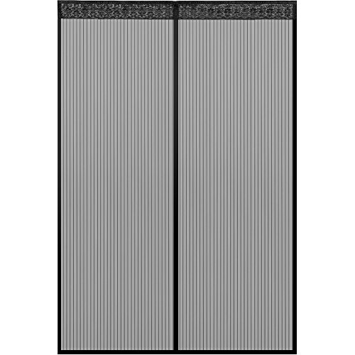 Anpro Fliegengitter Tür Moskitonetz Tür 160x230CM / 110 x 220CM / 90x210CM / 100x220CM Insektenschutz Magnet Vorhang Fliegenvorhang für Balkontür Wohnzimmer, Schwarz, EINWEG