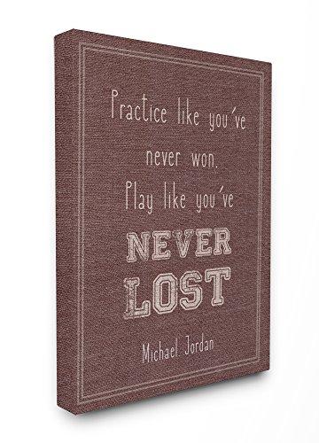 Stupell Industries Spielen wie Sie verloren niemals die Michael Jordan Zitat XXL Gespannte Leinwand Art Wand, -