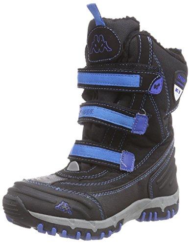 Kappa Ben Tex K Footwear Kids, Sneakers Hautes mixte enfant Noir (1160 Black/blue)