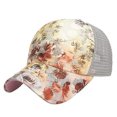 Cap Sommer Damen Frauen Fashion flora Sonnenhut verstellbar uv schutz mit Mesh für Baseball Sport Outdoor Reisen