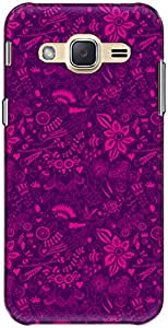 The Racoon Grip printed designer hard back mobile phone case cover for Samsung Galaxy J2. (Into the W)