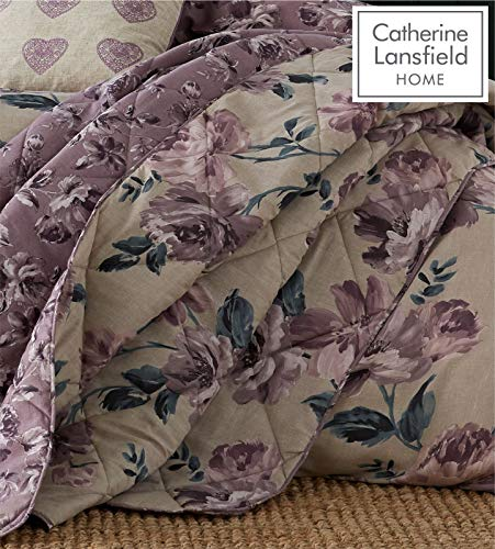 Catherine Lansfield Painted Blumen, Pflaume, Pflaume, 52 x 9.5 x 43 cm -