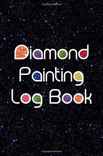 Diamond Painting Log Book: [Expanded Version] Notebook to Track DP Art Projects - Black with Blue Stars Design (Sparkle Series, Band 1)