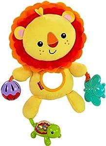 Fisher-Price León de actividades, juguete de peluche para bebé +3 meses (Mattel CGN89)