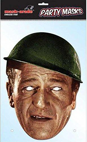 empireposter John Wayne Promi Pappmaske - hochwertiger Glanzkarton mit Augenlöchern - Größe ca. 30x21 cm